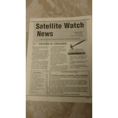 VINTAGE COLLECTABLE JULY 1991 SATELLITE WATCH NEWS