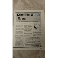 VINTAGE COLLECTABLE AUGUST 1991 SATELLITE WATCH NEWS
