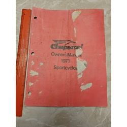VINTAGE 1973 CHAPARRAL SPORTCYCLE OWNER\'S MANUAL
