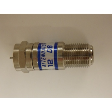 NEW Coax Attenuator, 12dB with F fittings